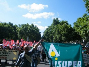 Alisuper em protesto (Foto de Arquivo)