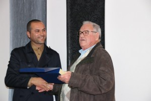 O atual presidente, João Carlos Correia, e Vitorino Cavaco o primeiro presidente eleito após o 25 de abril