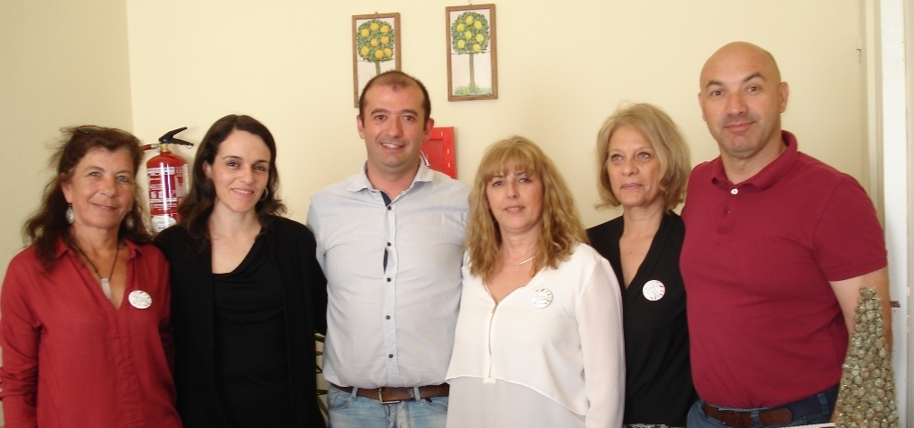 Sector de Educação da CMS: Céu Gomes, Ana Patrícia, Jorge Ponciano, Eduarda Correia, Maria José Matoso, Luís Coelho (da esquerda para a direita)